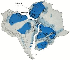 L'emboîtement de l'Afrique et de l'Amérique du Sud et leurs similitudes géologiques