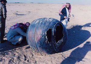 Un débris du troisième étage PAM-D de Delta 2 retrouvé en Arabie saoudite le 21 janvier 2001