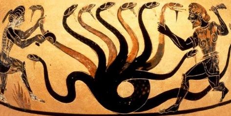 L'hydre vaincu par Hercules