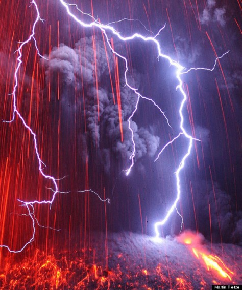 orage volcan