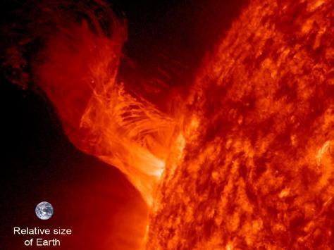 Eruption solaire du 31 décembre 2012. Crédit NASA / SDO.