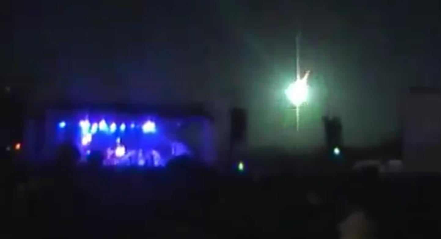 Météorite lors d'un concert en Argentine