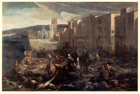 Scène de la peste de 1720 à la Tourette, de Michel Serre
