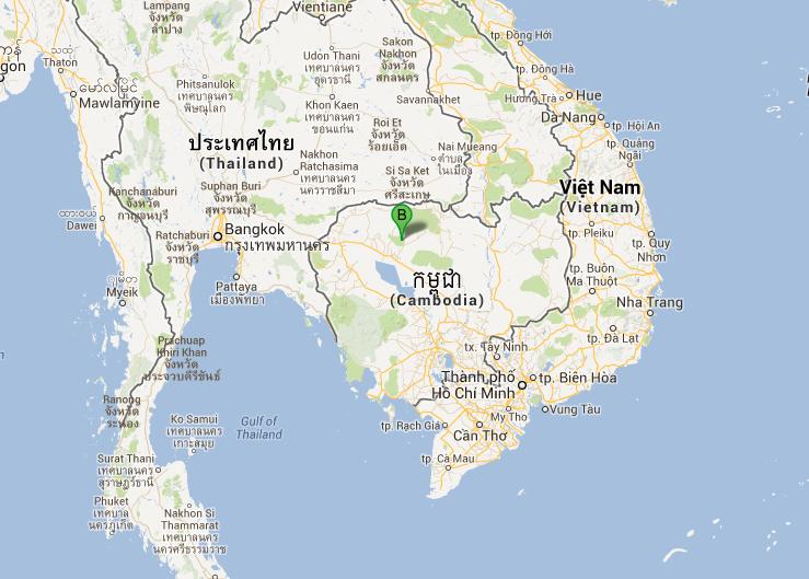 Localisation de la cité perdue de Mahendraparvata