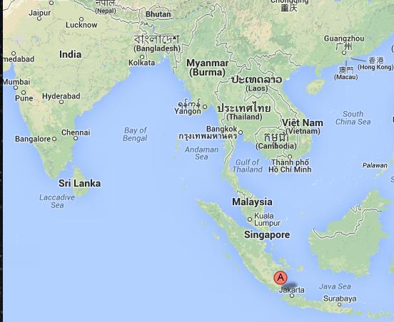 Localisation du volcan Krakatoa