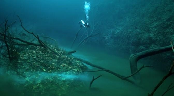 Une rivière qui coule… au fond de l'eau !