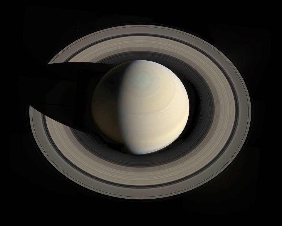 Saturne. Photo de la NASA