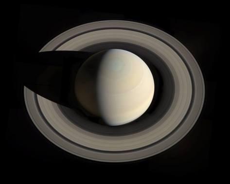 Saturne. Photo de la NASA