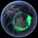 Aurore boréale en Antarctique.