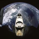 Le nez d'Atlantis depuis la station Mir