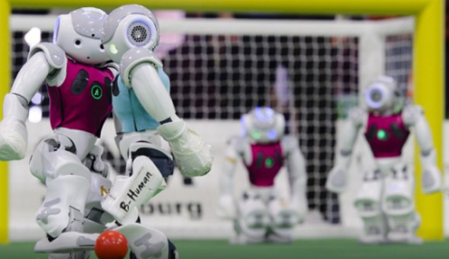 Match de foot entre robots
